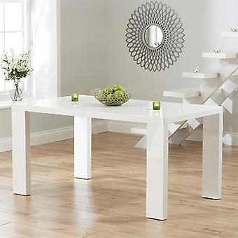 Mark Harris Metz 150cm White High Gloss Dining Table