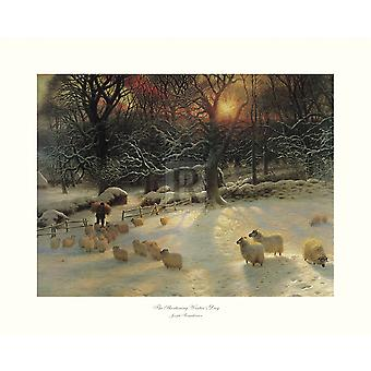 The Shortening Winters Day Poster Print by Joseph Farquharson (20 x 16)