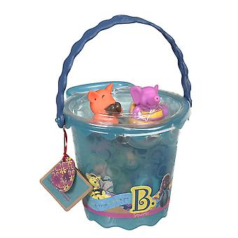 B. Toys Squirts Bucket Of Bath Toys