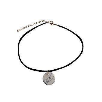 Minimalistischen Marmor Look Choker Halskette