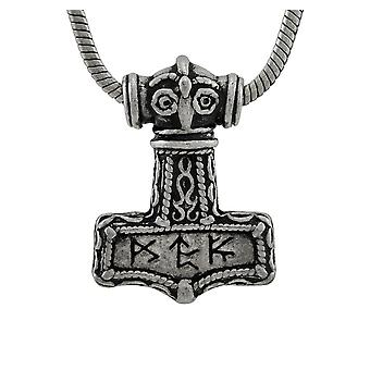 Alchemy Gothic Thor`s Bindrune Hammer Pewter Pendant/Necklace