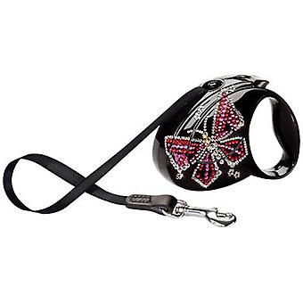 Flexi Glam Butterfly Negro (Dogs , Walking Accessories , Leads)