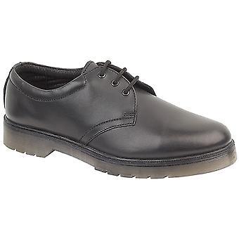 Amblers Mens Aldershot Gibson schoenen textiel leer PVC Lace Up mannelijke schoeisel