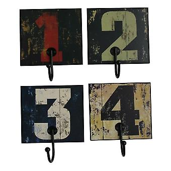 Superstudio Numbers Decorative hangers September 4 wood and metal pieces
