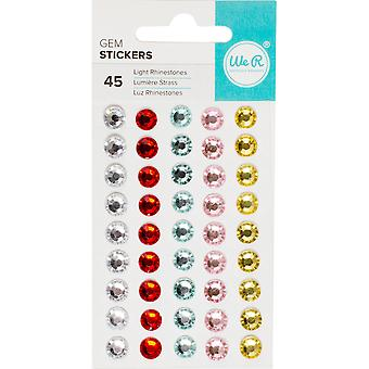 We R Gem Stickers 45/Pkg-Light Assortment 600031
