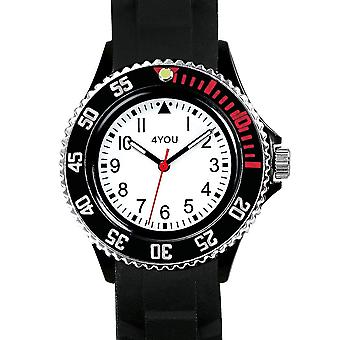 4YOU Herre ur wrist watch analog quartz silikone 250005002