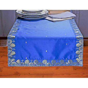 Blue - Hand Crafted Table Runner (India)