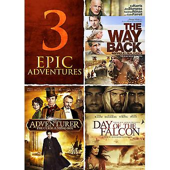 Adventurer / Day of the Falcon / the Way Back [DVD] USA import