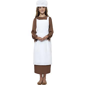 Maid girl beggar girl Kids costume 2-piece Cook