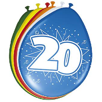 Colorful balloons balloon number 20 birthday 8 St. decoration balloons party