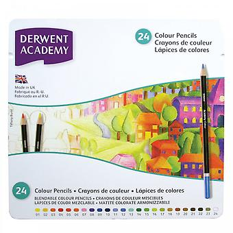 Derwent Academy Colouring Pencils 24 Tin