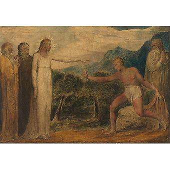 William Blake - Giving Sight to Bartimaeus Poster Print Giclee
