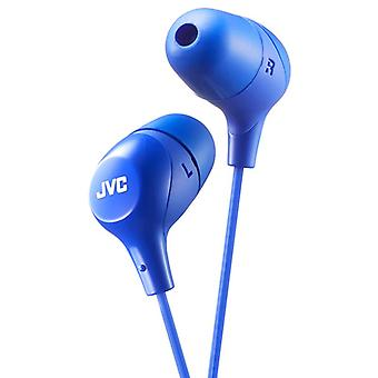 JVC Earbuds Powerful sound Earphones - Blue (Model No. HAFX38A)