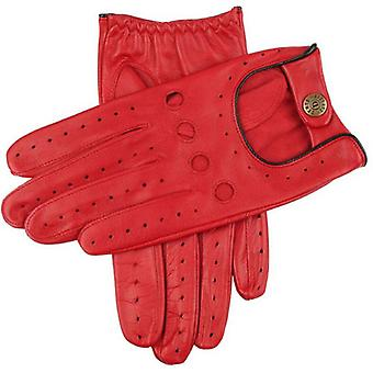Dents Delta Hairsheep Leather Classic Driving Gloves - Berry/Black