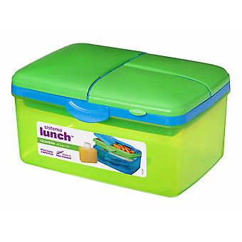 Sistema Large Lime Green Quaddie Lunch Box 2 Ltr