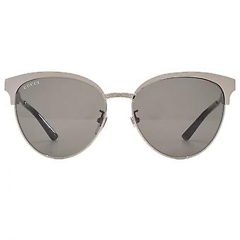 Gucci-Metall Cateye Sonnenbrillen In Ruthenium