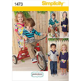 Simplicity Toddlers Sportswear-1/2-1-2-3-4 US1473A