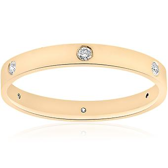 14k Yellow Gold Diamond Eternity Wedding Anniversary Ring Womens Polished Band