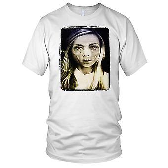 Zombie Girl Portait Mens T Shirt