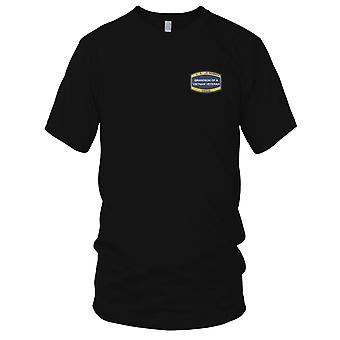 US Navy Seabee Grand-Son Of A Vietnam Veteran Embroidered Patch - Mens T Shirt