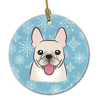 Carolines Treasures  BB1672CO1 Snowflake French Bulldog Ceramic Ornament