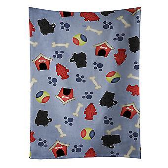 Hond huis collectie Chow Chow zwarte keuken handdoek