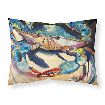 Carolines Treasures  JMK1094PILLOWCASE Blue Crab Fabric Standard Pillowcase