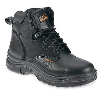 Worksite Black Safety Work Boots. Steel Toe & Midsole. Sizes: 5-12  – SS604SM