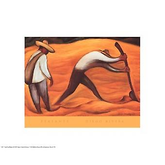 Peasants Poster Print by Diego Rivera (20 x 16)