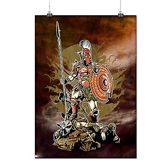 Matte or Glossy Poster with Sparta Warrior Fantasy | Wellcoda | *d2816