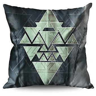 Occult Triangle Linen Cushion Occult Triangle | Wellcoda