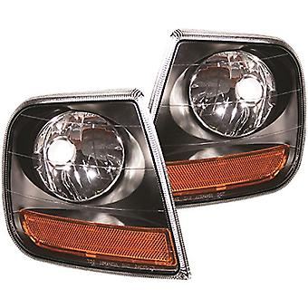 AnzoUSA 521040 Black/Amber Corner Light for Ford Expedition
