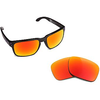 HOLBROOK Replacement Lenses Polarized Black Iridium & Red by SEEK fits OAKLEY