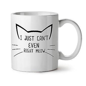 Cat Lover Meow NEW White Tea Coffee Ceramic Mug 11 oz | Wellcoda