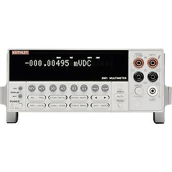 Bench multimeter Digital Keithley 2001 Calibrated to: Manufacturer's standards (no certificate) Display (counts): 1000