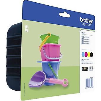 Brother Ink LC-221 Original Set Black, Cyan, Magenta, Yellow LC221VALBPDR