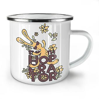 Rabbit Cute Animal NEW WhiteTea Coffee Enamel Mug10 oz | Wellcoda