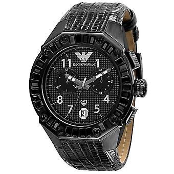 Emporio Armani Unisex Watch Mens Sport Watch With Black Stones AR0668