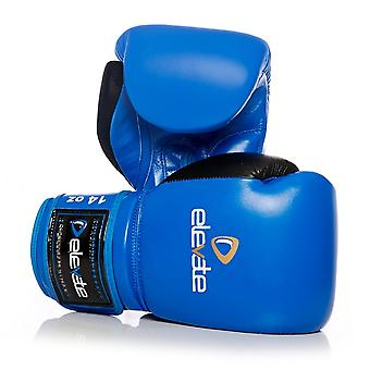 Elevate  Tone Leather Boxing Gloves - Blue & Black
