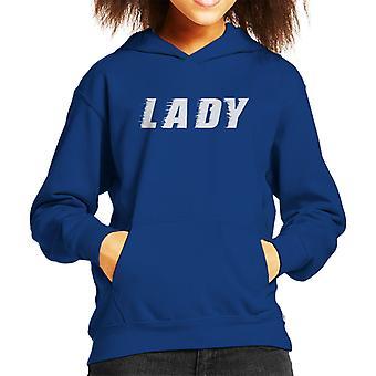 Lady Slogan Kid's Hooded Sweatshirt