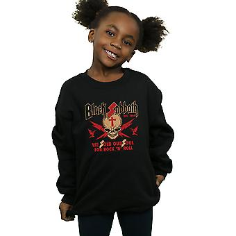Black Sabbath Girls Skull Crest Sweatshirt