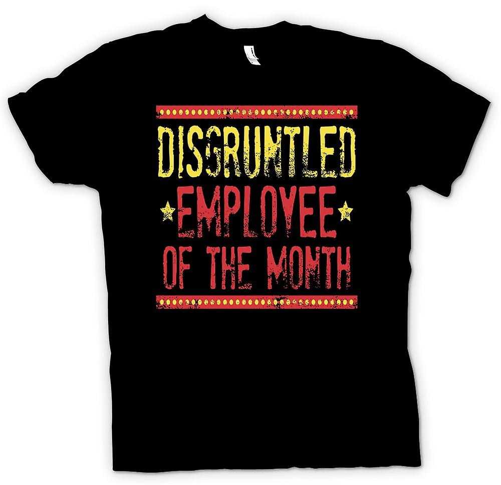 Heren T-shirt - ontevreden Employee Of The Month - grappig