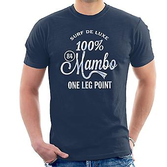 Mambo Surf Deluxe One Leg Point Blue Men's T-Shirt