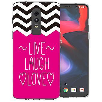 OnePlus 6 Live latter kjærlighet hjerte TPU bærevesken