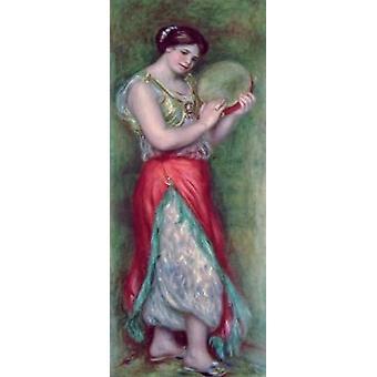 Fille de danse avec Tambourine, 1909 par Pierre .. - Reproduction d'art