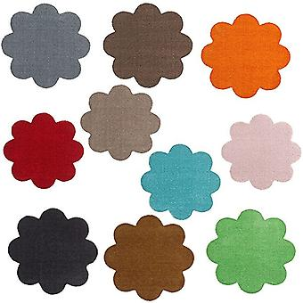 Doormat dirt trapping pad soft & clean flower in the contour cut 67 x 67 cm