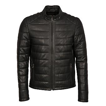 Tom Biker Style Leather Jacket in Black
