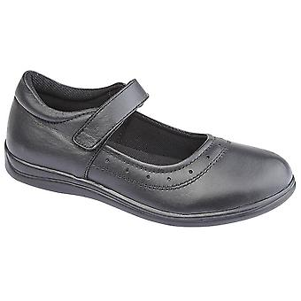 Girls Kids Leather Touch Fastening Smart Bar Mary Jane School Formal Shoes