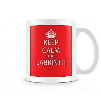 Keep Calm I Love Labrinth Printed Mug