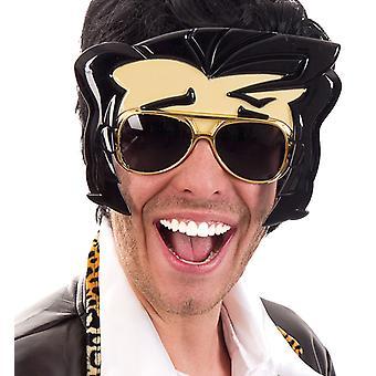 Óculos rock star Elvis piada artigos cobrindo o acessório
